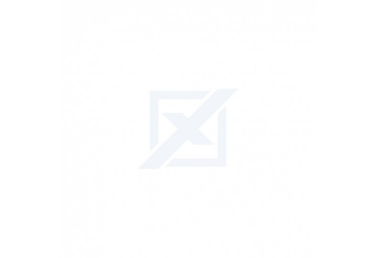 Posuvná skříň 180 LEGO korpus bílý, dveře hnědý LESK 180x200x62 cm