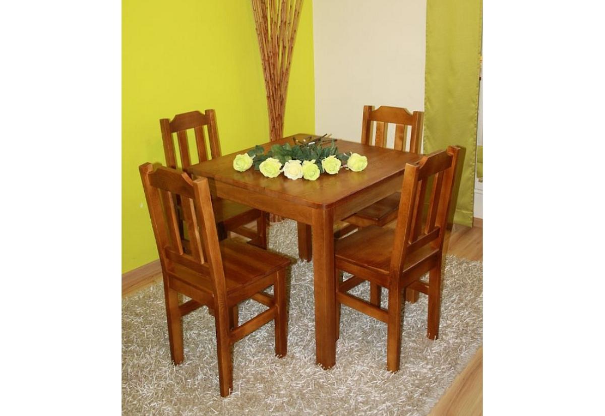Dřevěný stůl WOOD, čtvercový, 80x80cm - dub