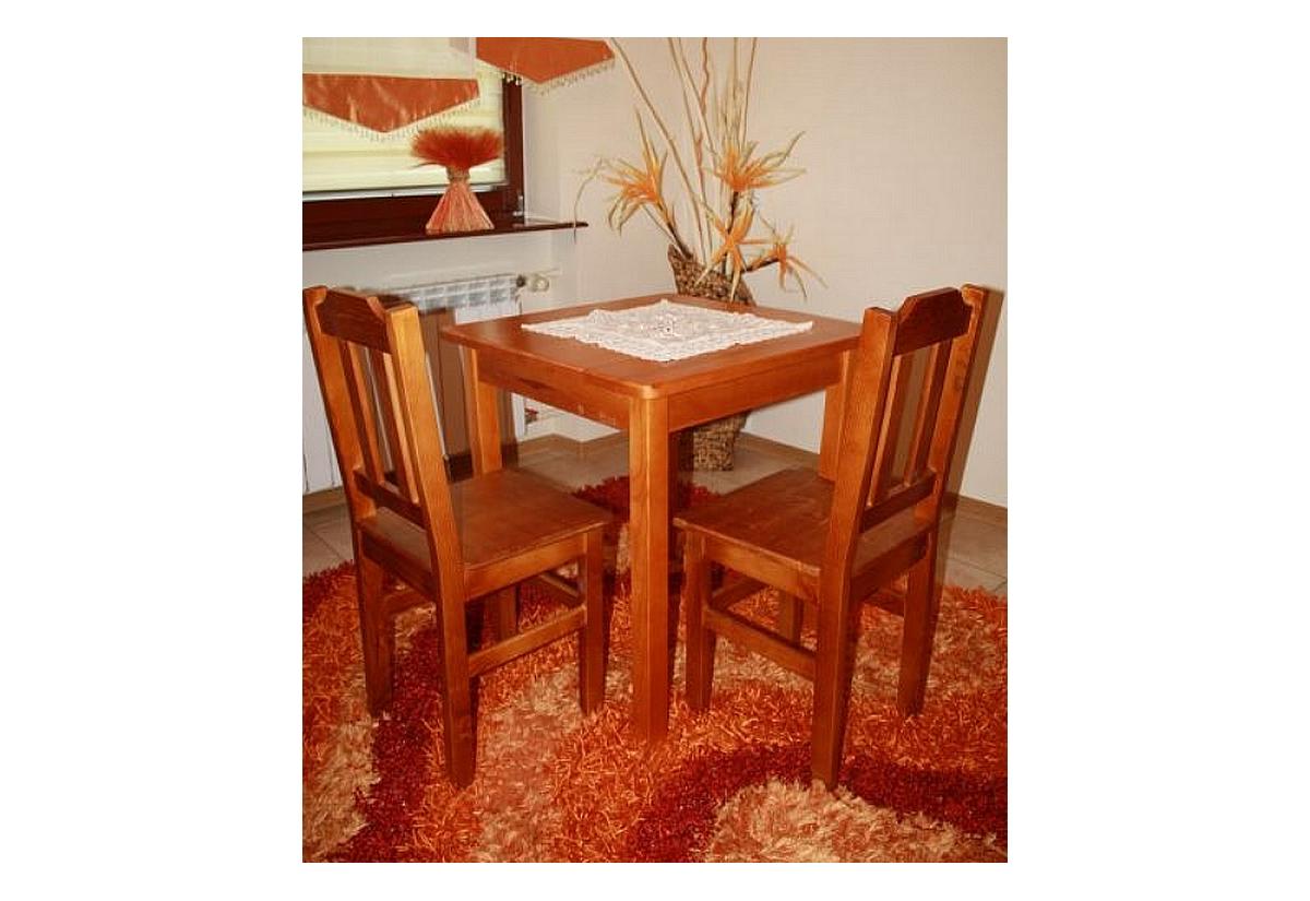 Dřevěný stůl WOOD, čtvercový, 60x60cm - olše