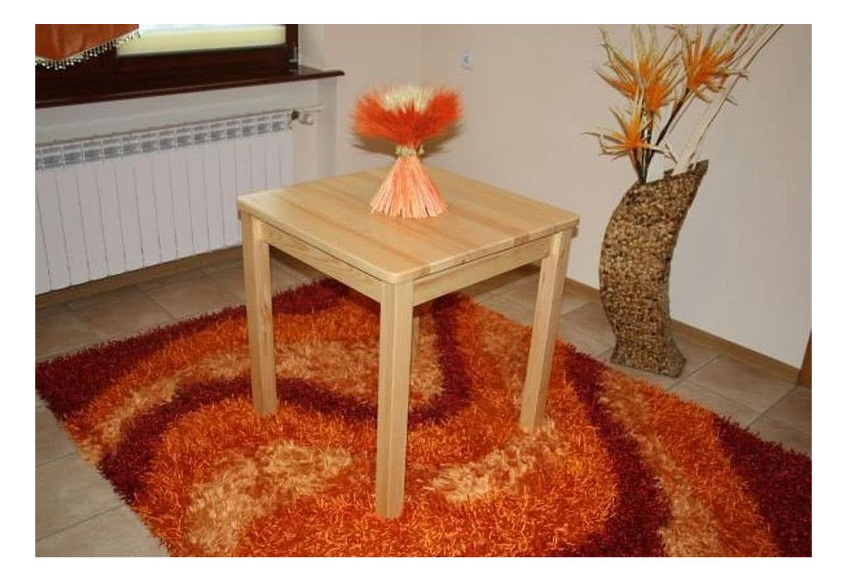 Dřevěný stůl WOOD, čtvercový, 60x60, borovice světlá
