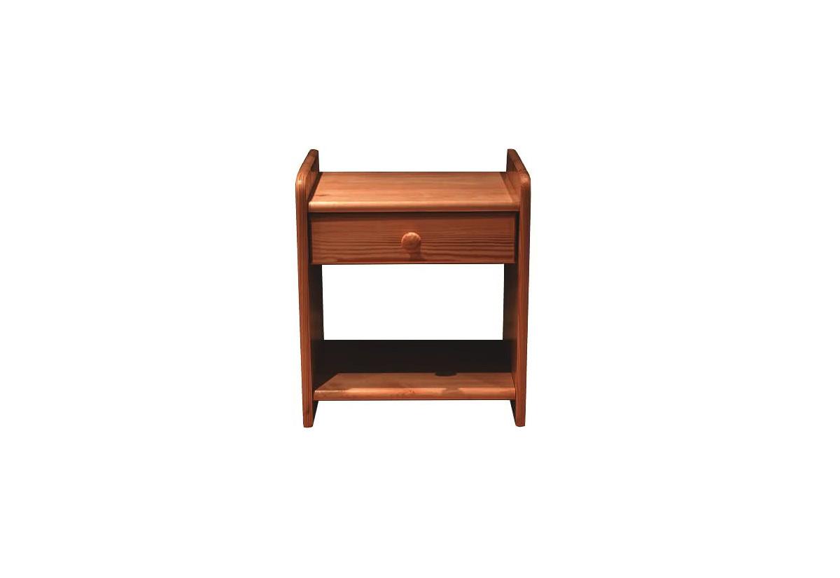 Noční stolek z masivu ROSE, 42x42x28cm, olše-lak