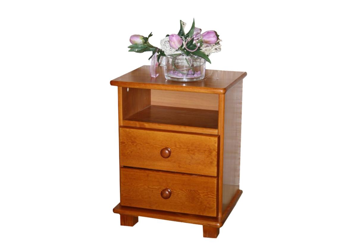 Noční stolek z masivu JULY, 56x42x35 cm, olše-lak