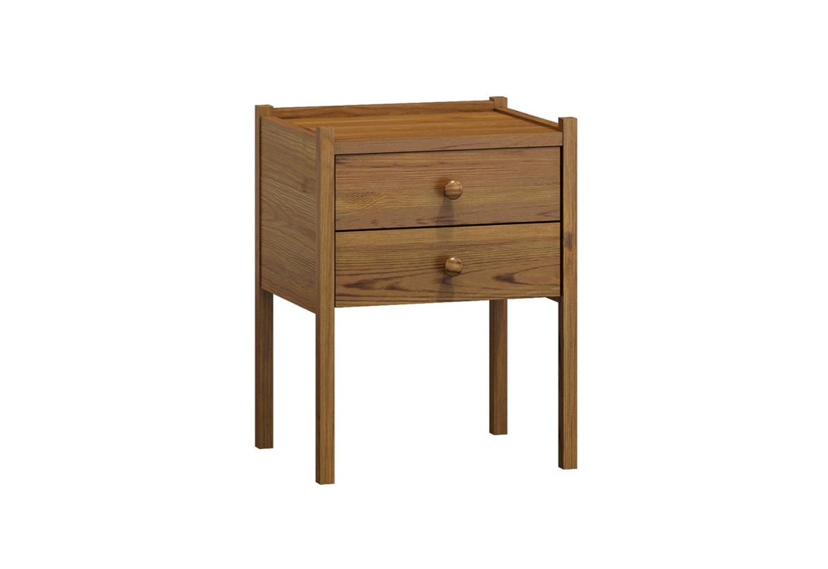 Noční stolek z masivu CATE, 52x41x34 cm, dub-lak