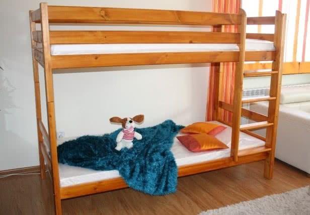 Patrovka pro děti KATIE + rošt ZDARMA, 90x200, olše-lak