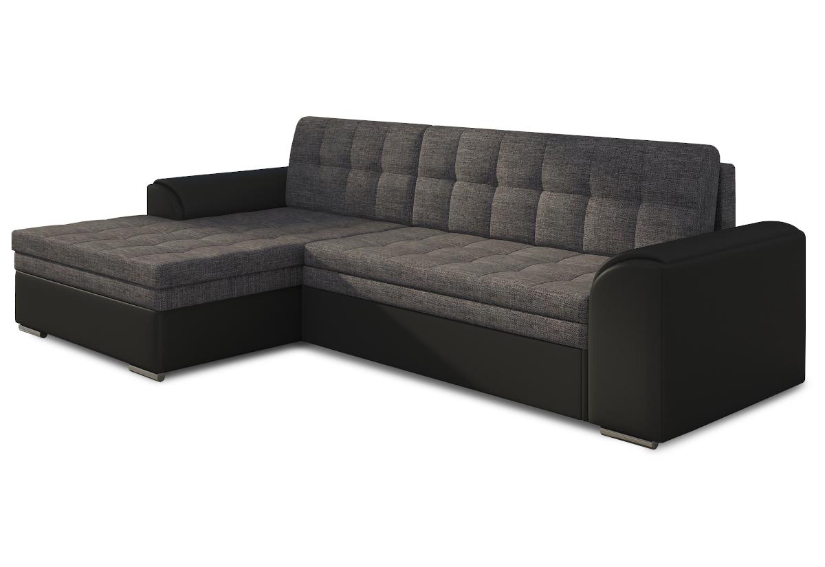 Rohová sedačka POHODA, 270x80x165, sawana05/soft011black, levá