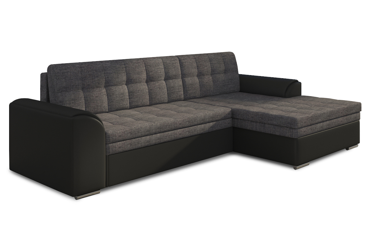 Rohová sedačka POHODA, 270x80x165, sawana05/soft011black, pravá