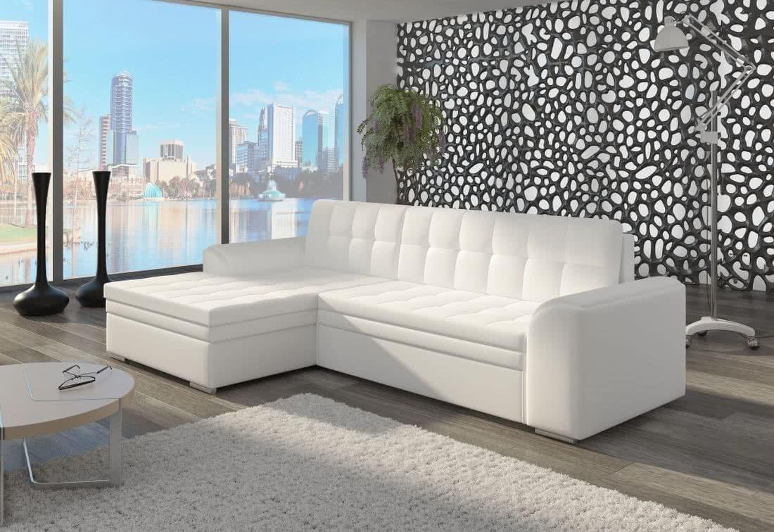 Rohová sedačka POHODA, 270x80x165, soft017white, levá