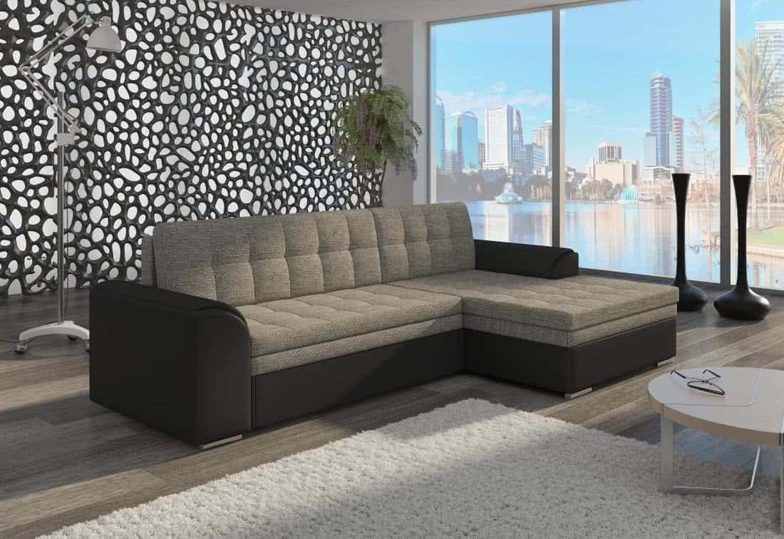 Rohová sedačka POHODA, 270x80x165, berlin01/soft011black, pravá