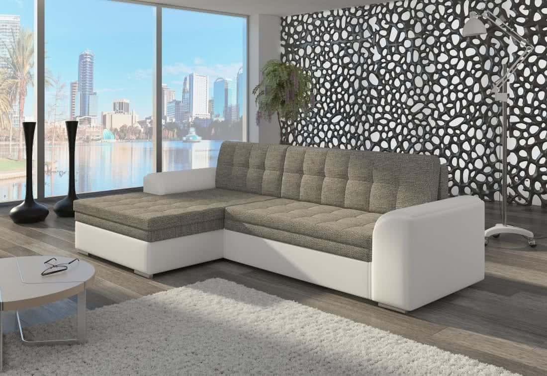 Rohová sedačka POHODA, 270x80x165, berlin01/soft017white, levá