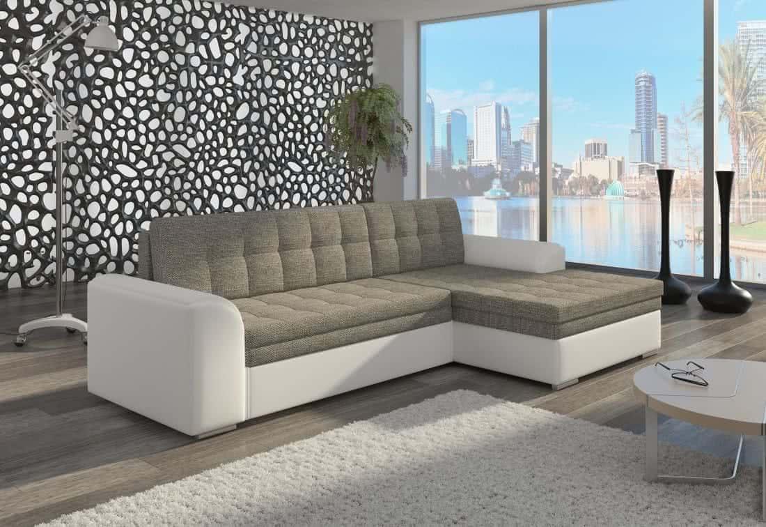 Rohová sedačka POHODA, 270x80x165, berlin01/soft017white, pravá
