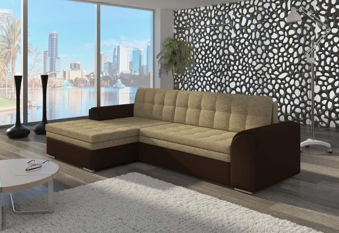 Rohová sedačka POHODA, 270x80x165, berlin03/soft015, levá