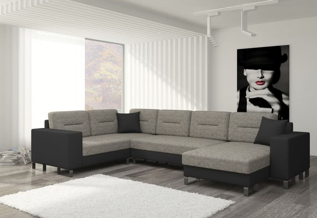 Rozkládací sedačka do U MEDY, 330x86x206/145, berlin01/soft011black, pravá