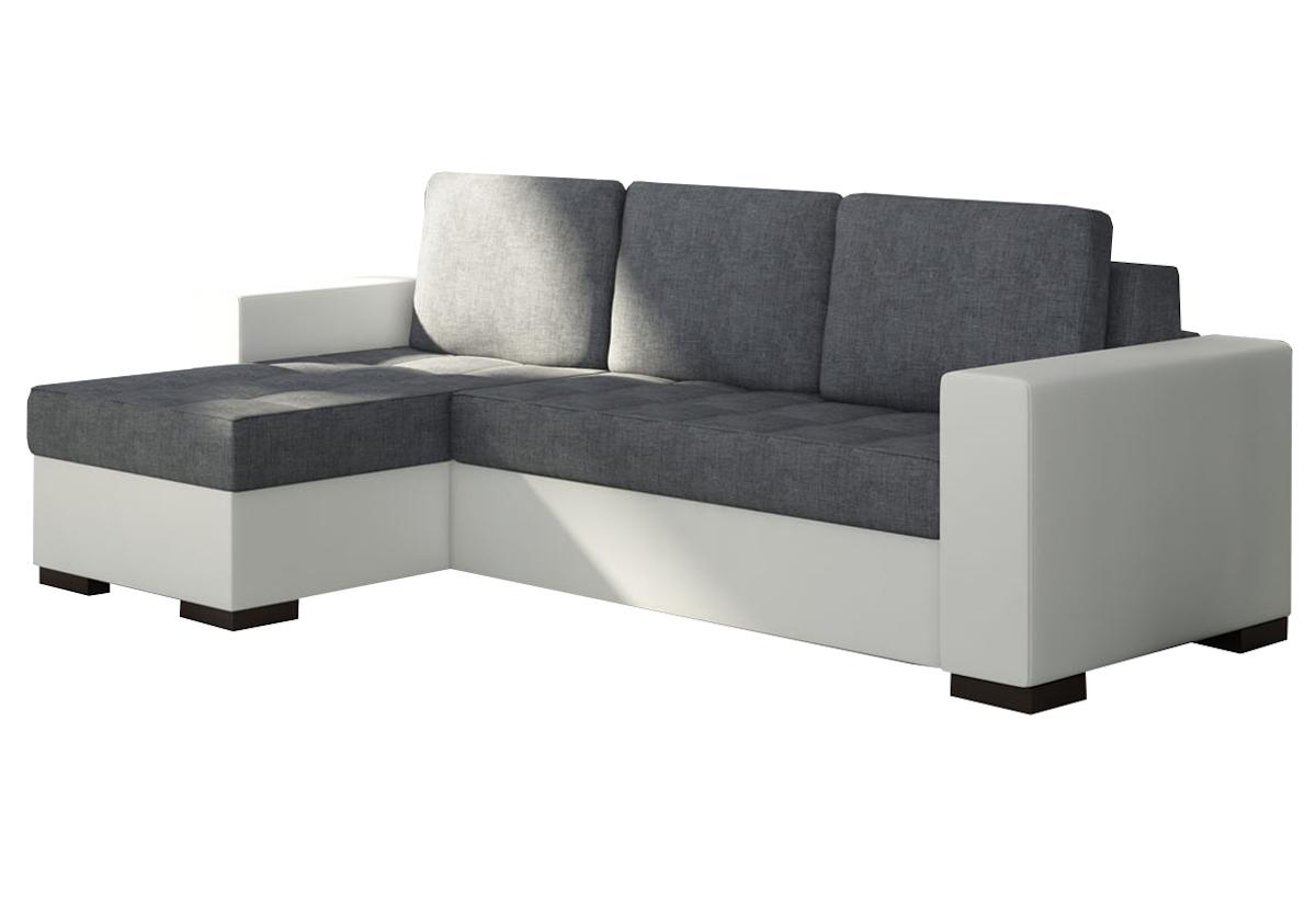 Rohová sedačka ALESSIA, 237x90x150, sawana05/soft017white, levá