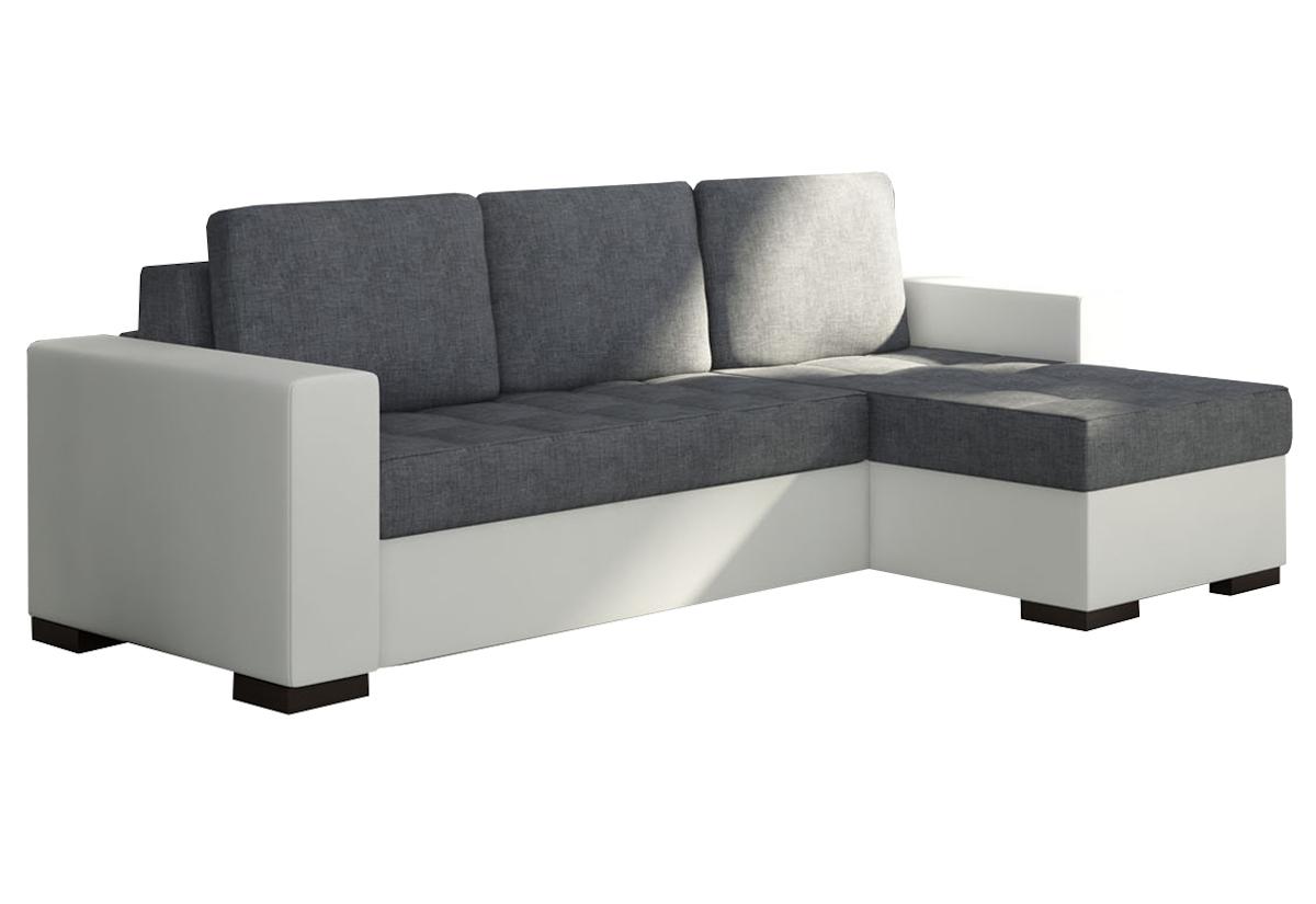 Rohová sedačka ALESSIA, 237x90x150, sawana05/soft017white, pravá