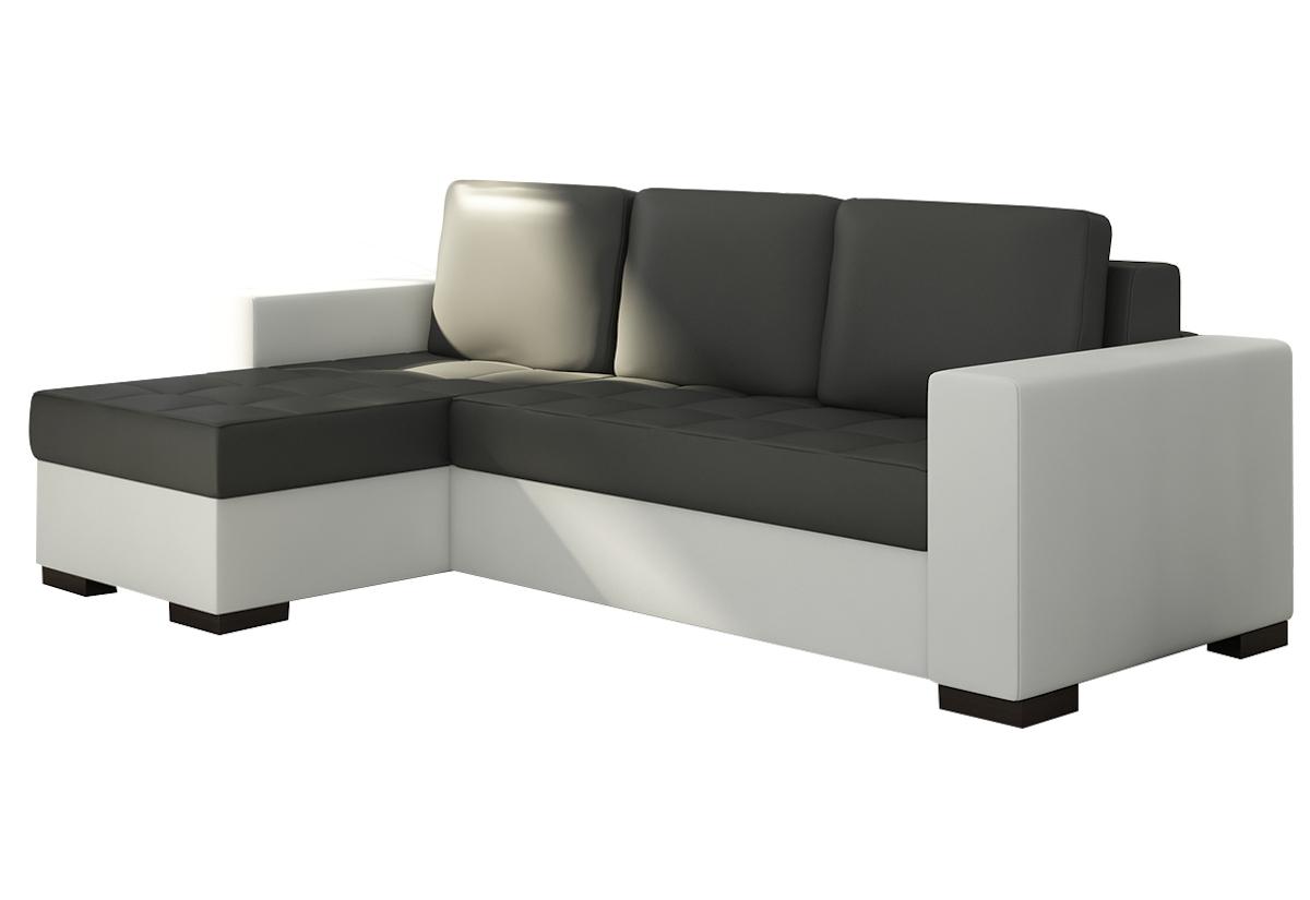 Rohová sedačka ALESSIA, 237x90x150, soft011black/soft017white, levá