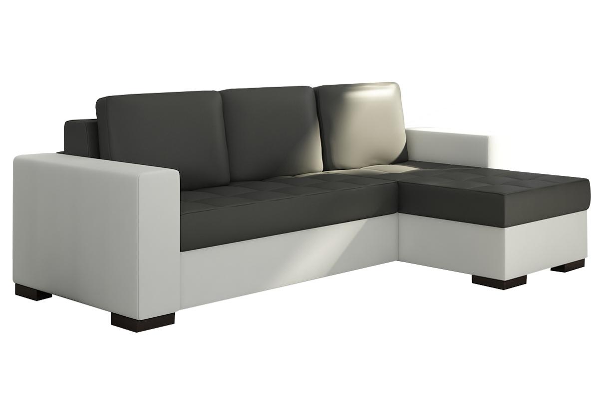 Rohová sedačka ALESSIA, 237x90x150, soft011black/soft017white, pravá