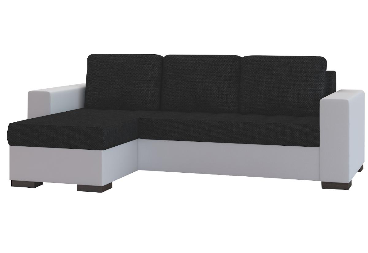 Rohová sedačka ALESSIA, 237x90x150, sawana14/soft017white, levá