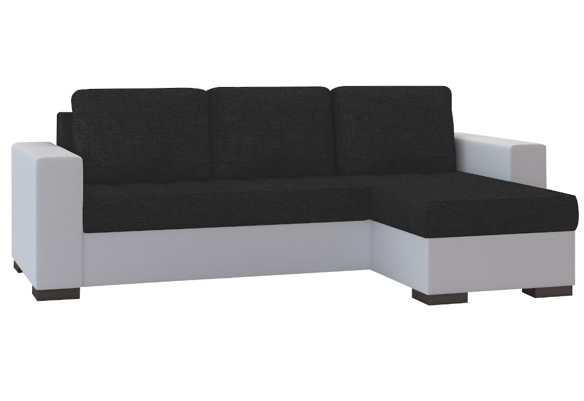 Rohová sedačka ALESSIA, 237x90x150, sawana14/soft017white, pravá