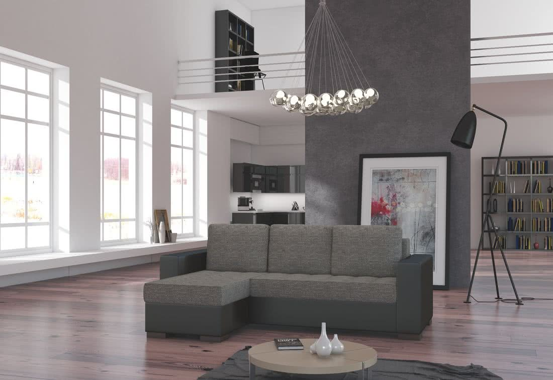Rohová sedačka ALESSIA, 237x90x150, berlin01/soft011black, levá