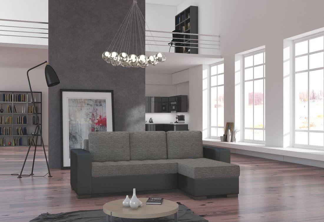 Rohová sedačka ALESSIA, 237x90x150, berlin01/soft011black, pravá