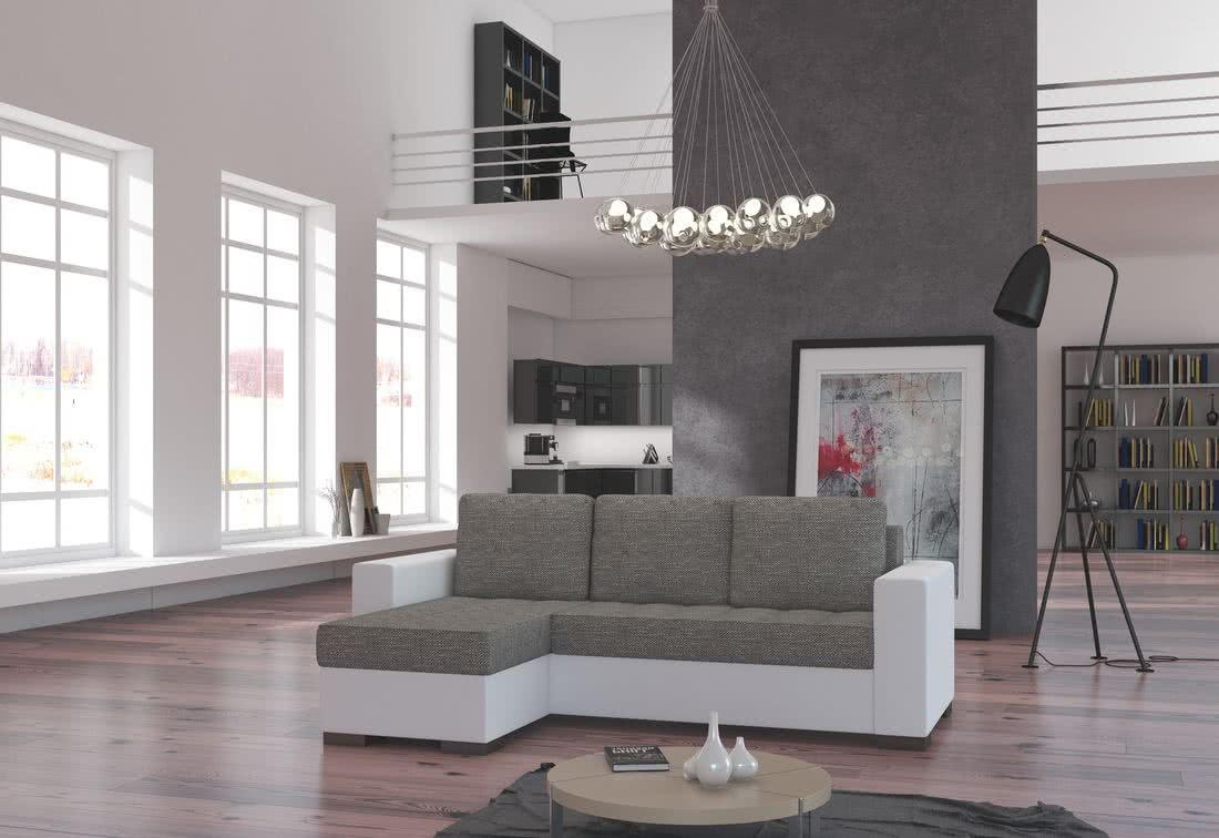 Rohová sedačka ALESSIA, 237x90x150, berlin01/soft017white, levá