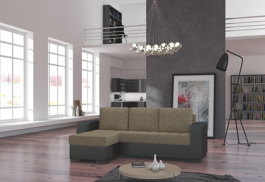Rohová sedačka ALESSIA, 237x90x150, berlin03/soft66, levá