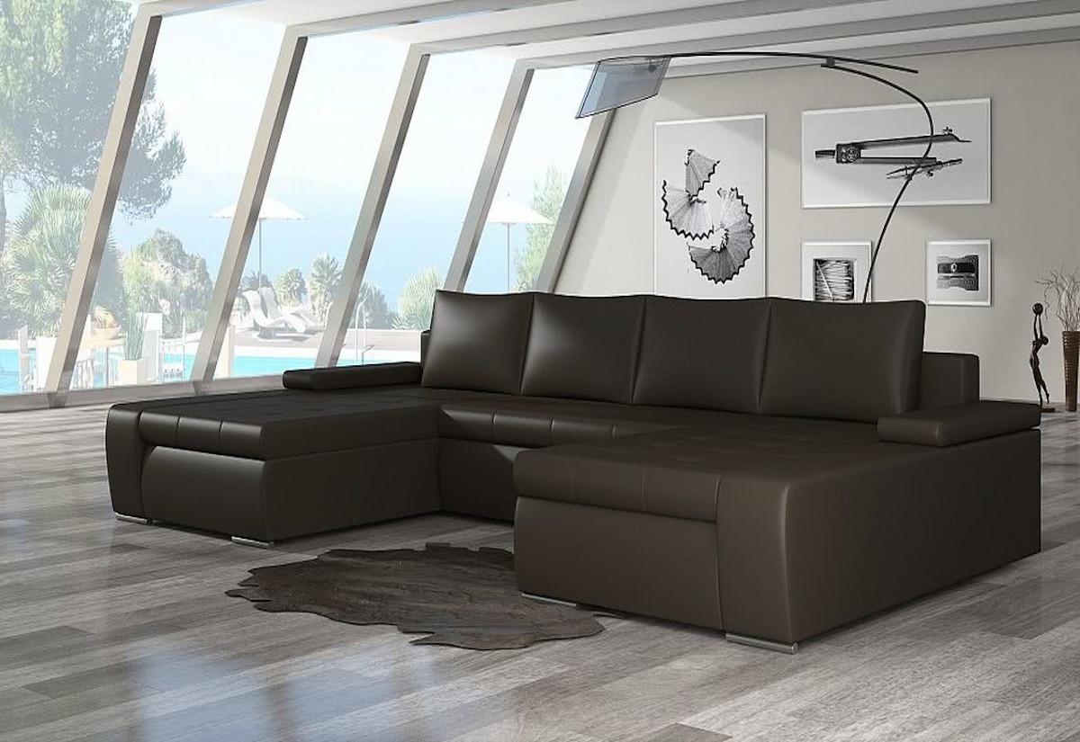 Rozkládací sedací souprava do U SAN MARINO, 365x90x195, soft066