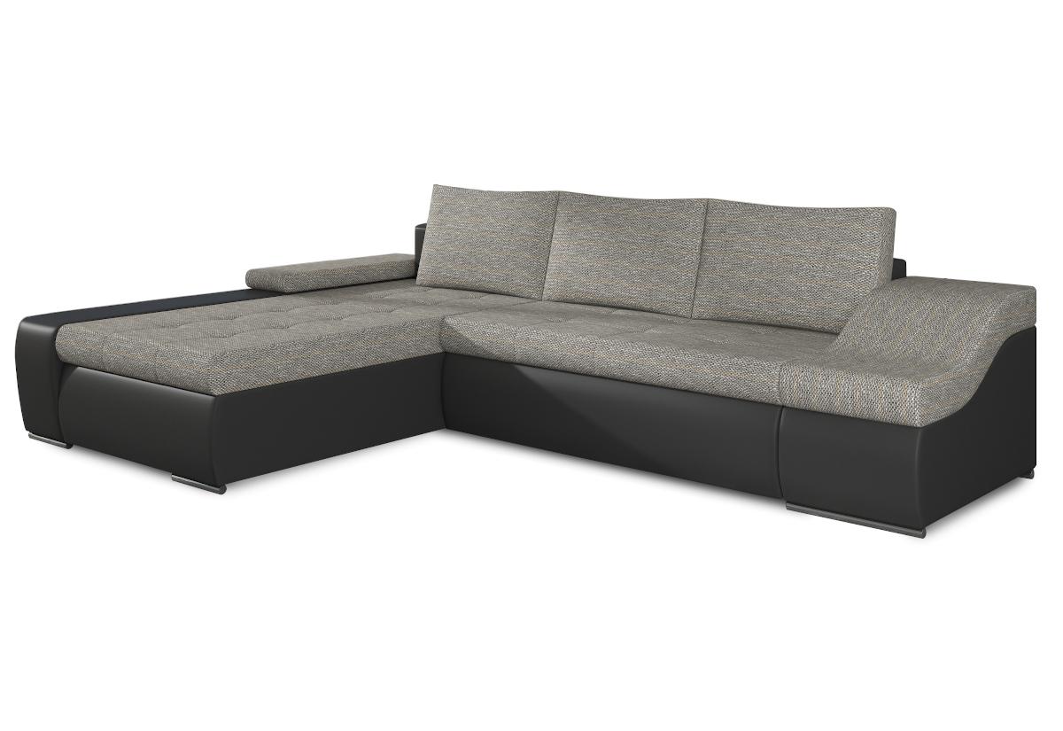 Rozkládací sedačka VENCOUVER, 295x90x195, berlin01/soft011black, levá