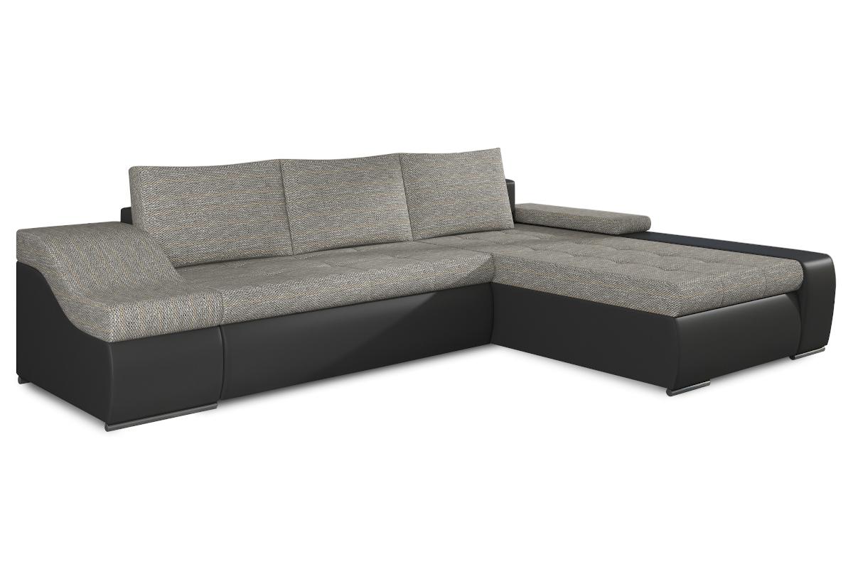 Rozkládací sedačka VENCOUVER, 295x90x195, berlin01/soft011black, pravá
