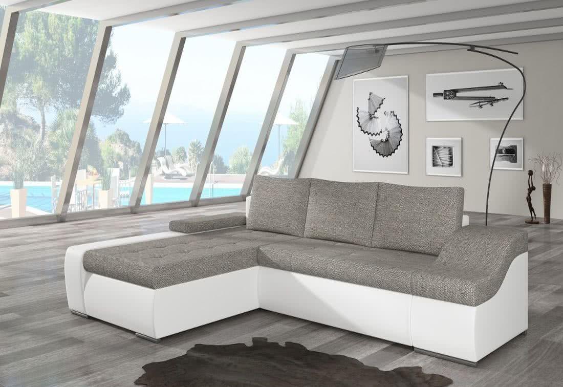 Rozkládací sedačka VENCOUVER, 295x90x195, berlin01/soft017white, levá