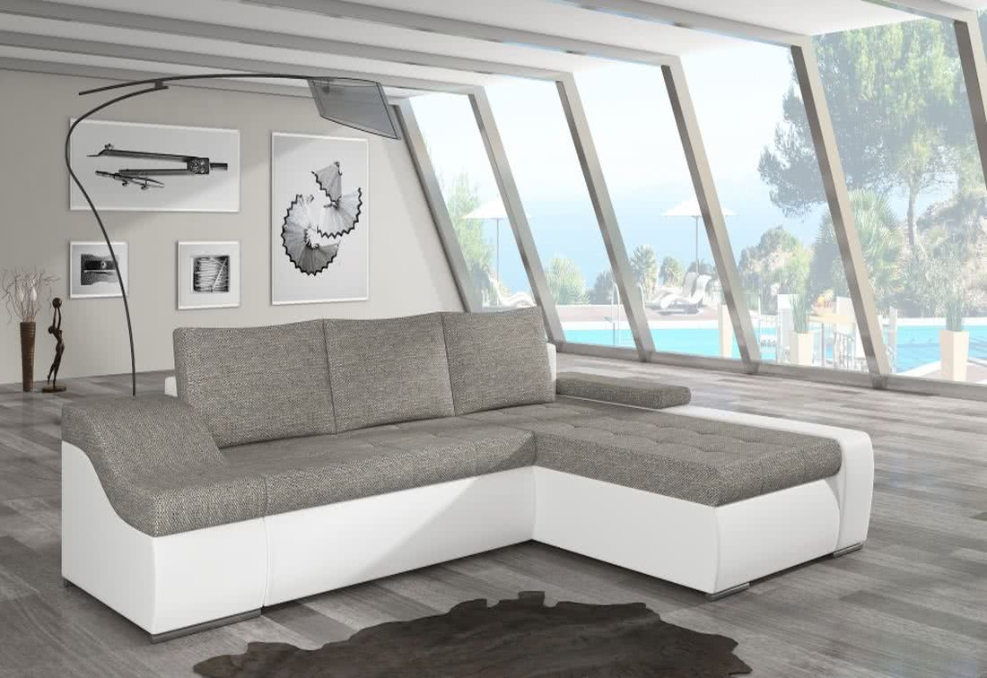 Rozkládací sedačka VENCOUVER, 295x90x195, berlin01/soft017white, pravá