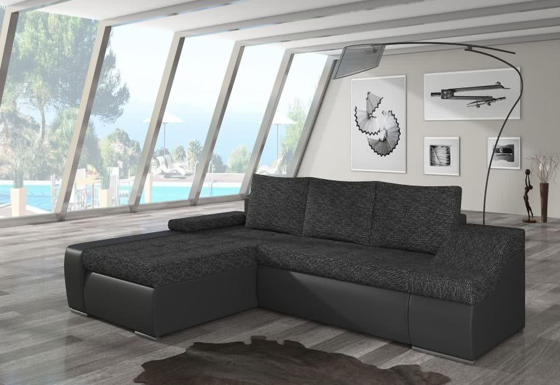 Rozkládací sedačka VENCOUVER, 295x90x195, berlin02/soft011black, levá