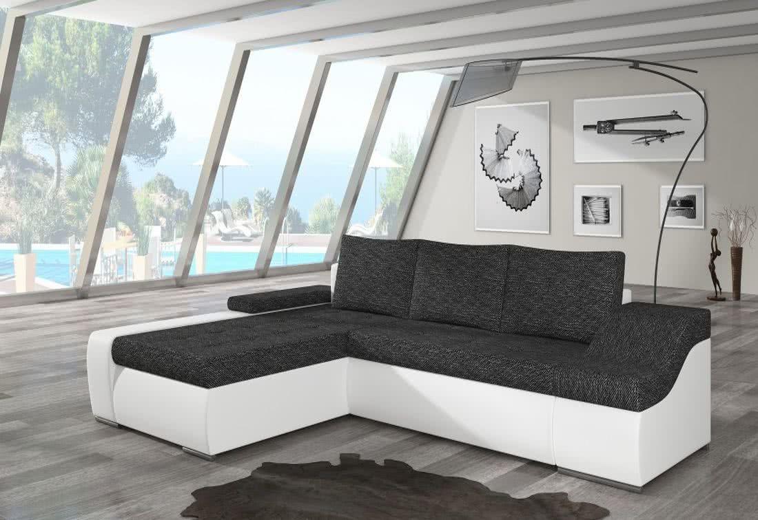 Rozkládací sedačka VENCOUVER, 295x90x195, berlin02/soft017white, levá