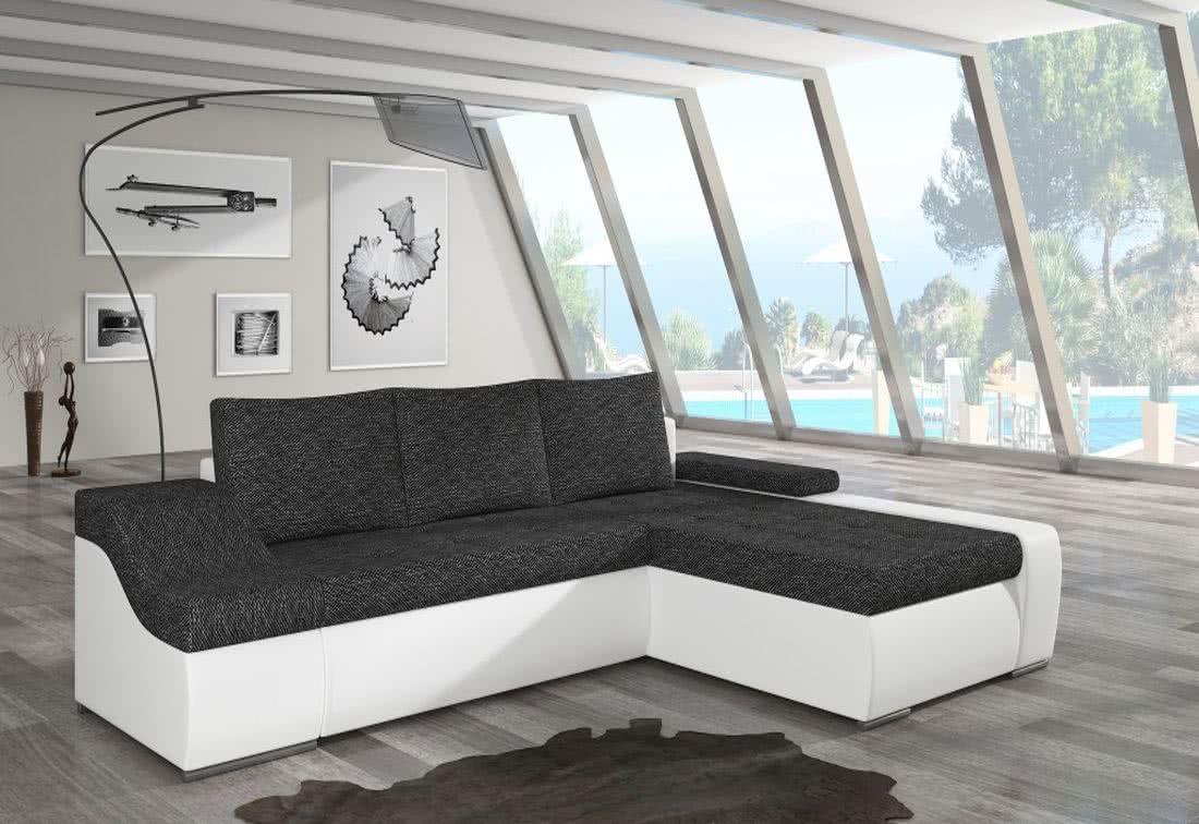 Rozkládací sedačka VENCOUVER, 295x90x195, berlin02/soft017white, pravá