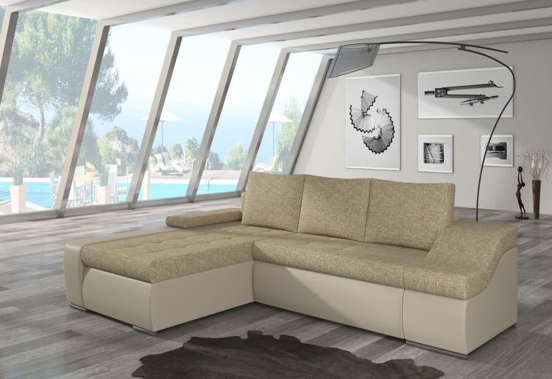 Rozkládací sedačka VENCOUVER, 295x90x195, berlin03/soft033 beige, levá