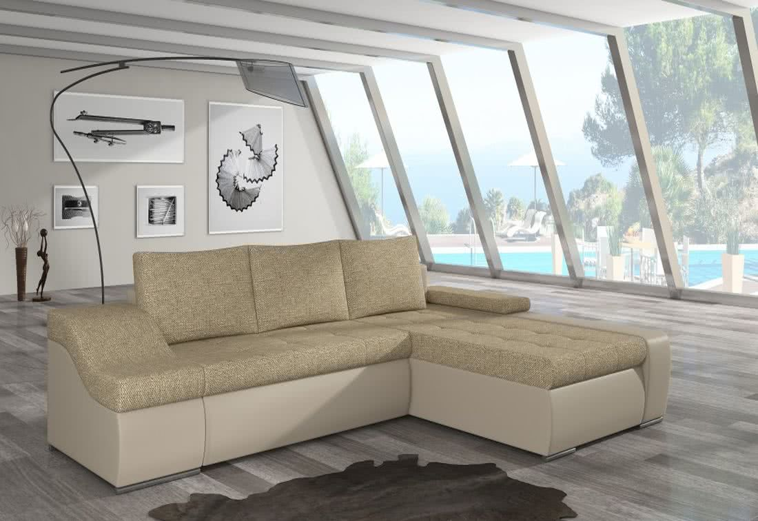 Rozkládací sedačka VENCOUVER, 295x90x195, berlin03/soft033 beige, pravá