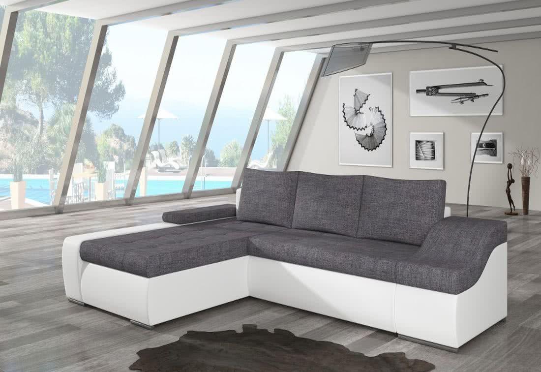 Rozkládací sedačka VENCOUVER, 295x90x195, sawana05/soft017white, levá