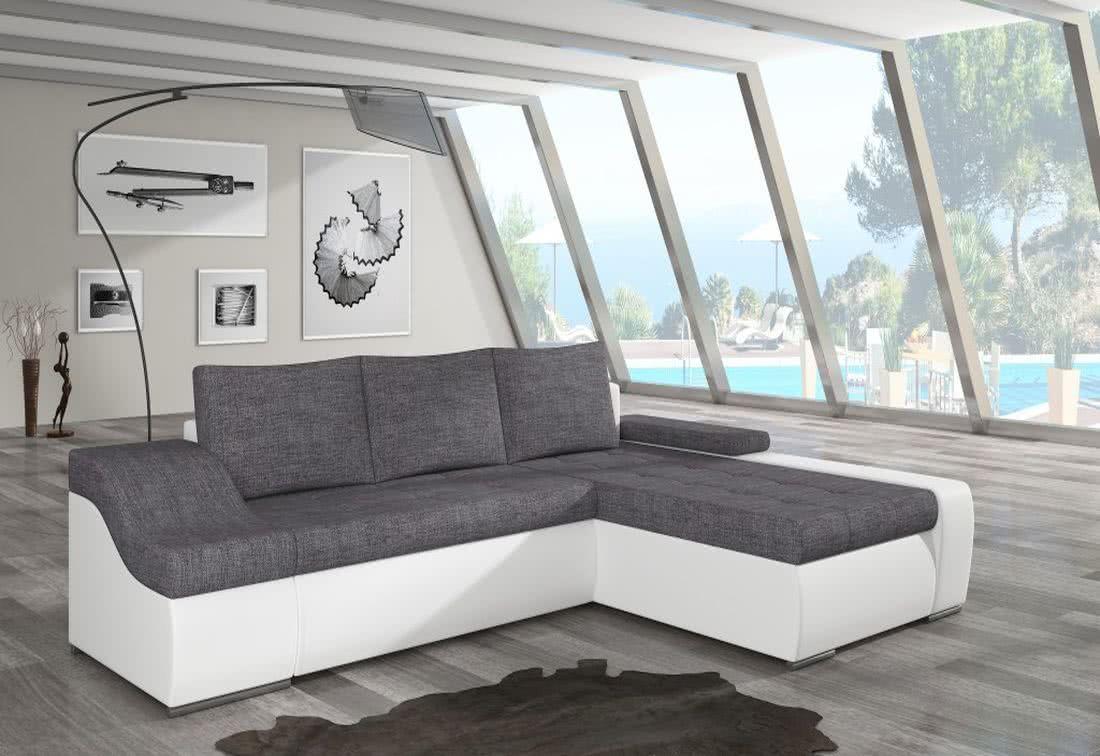 Rozkládací sedačka VENCOUVER, 295x90x195, sawana05/soft017white, pravá