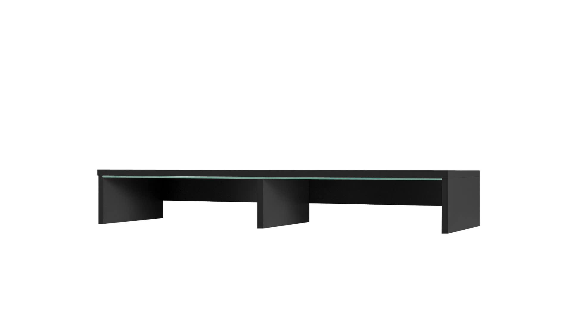 Nástavec k TV stolku GOLD, 15x100x32, Černá barva, bílé LED