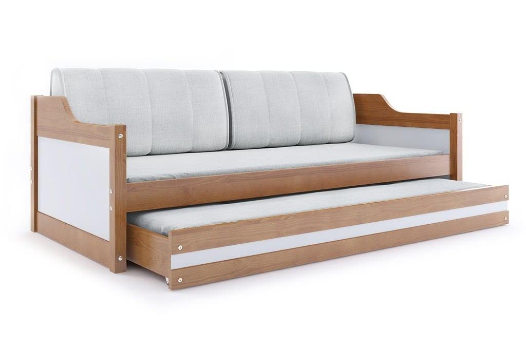 Dětská postel CASPER 2 + matrace + rošt ZDARMA, 80x190, olše, bílá