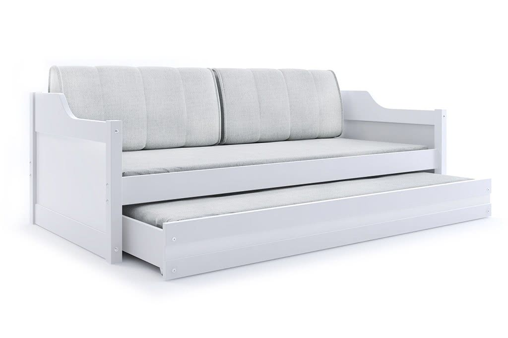 Dětská postel CASPER 2 + matrace + rošt ZDARMA, 90x200, bílý, bílá