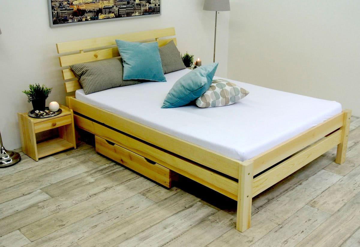Vyvýšená postel z masivu FAIRYTALE + rošt ZDARMA, 140x200, přírodní-lak