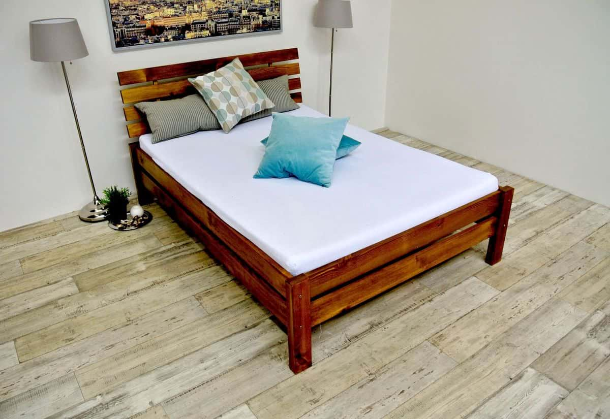 Vyvýšená postel z masivu FAIRYTALE + rošt ZDARMA, 140x200, dub-lak
