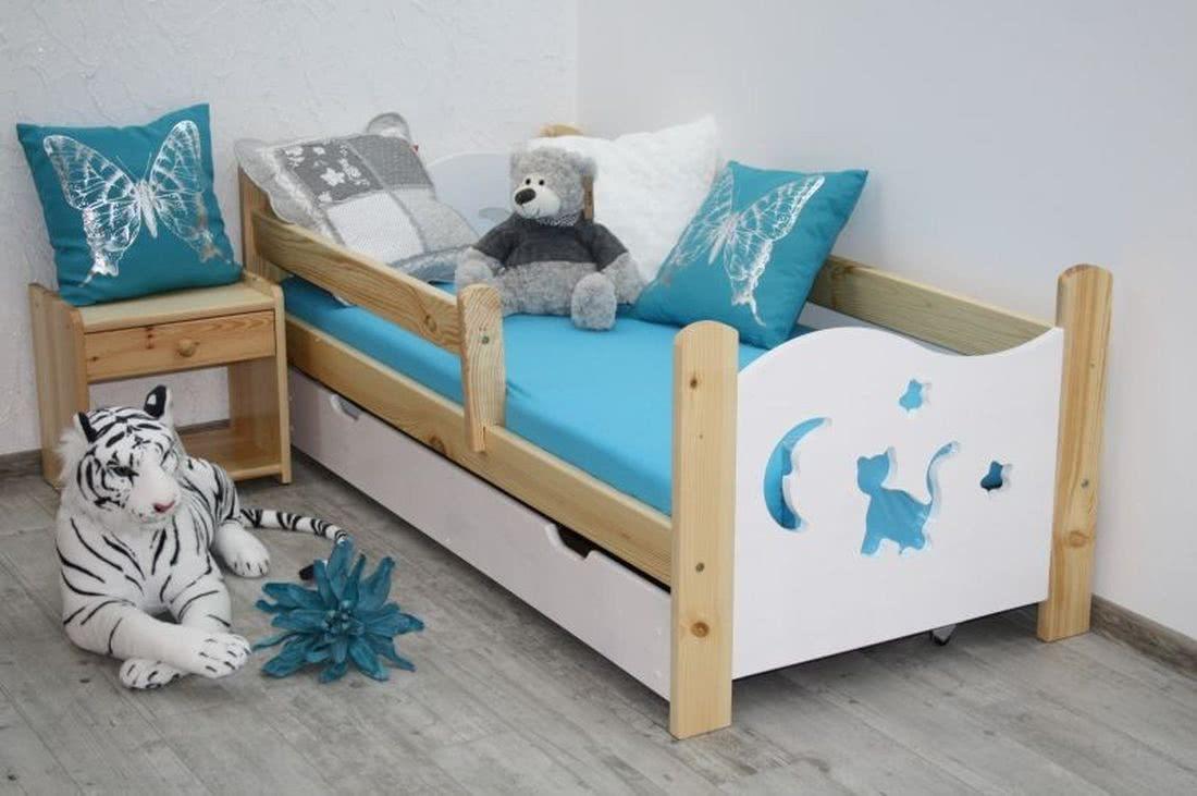 Dětská postel MICI + rošt ZDARMA, bilá/bílá, 160x70 cm