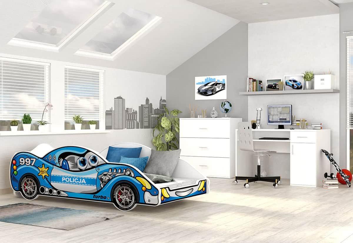 Dětská postel AUTO DRIVER + matrace + rošt ZDARMA, 90x180, VZOR 02