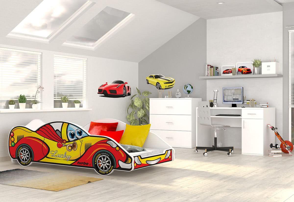 Dětská postel AUTO DRIVER + matrace + rošt ZDARMA, 90x180, VZOR 03