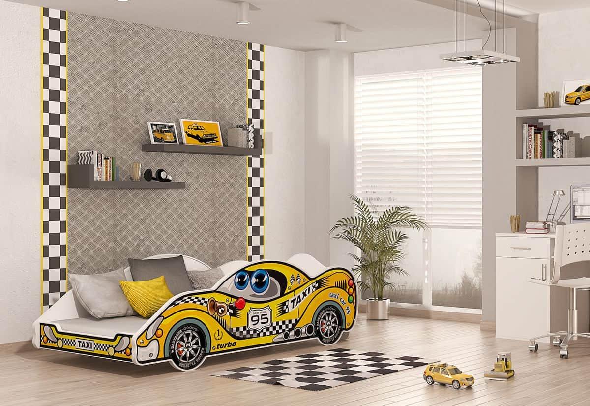 Dětská postel AUTO DRIVER + matrace + rošt ZDARMA, 90x180, VZOR 05