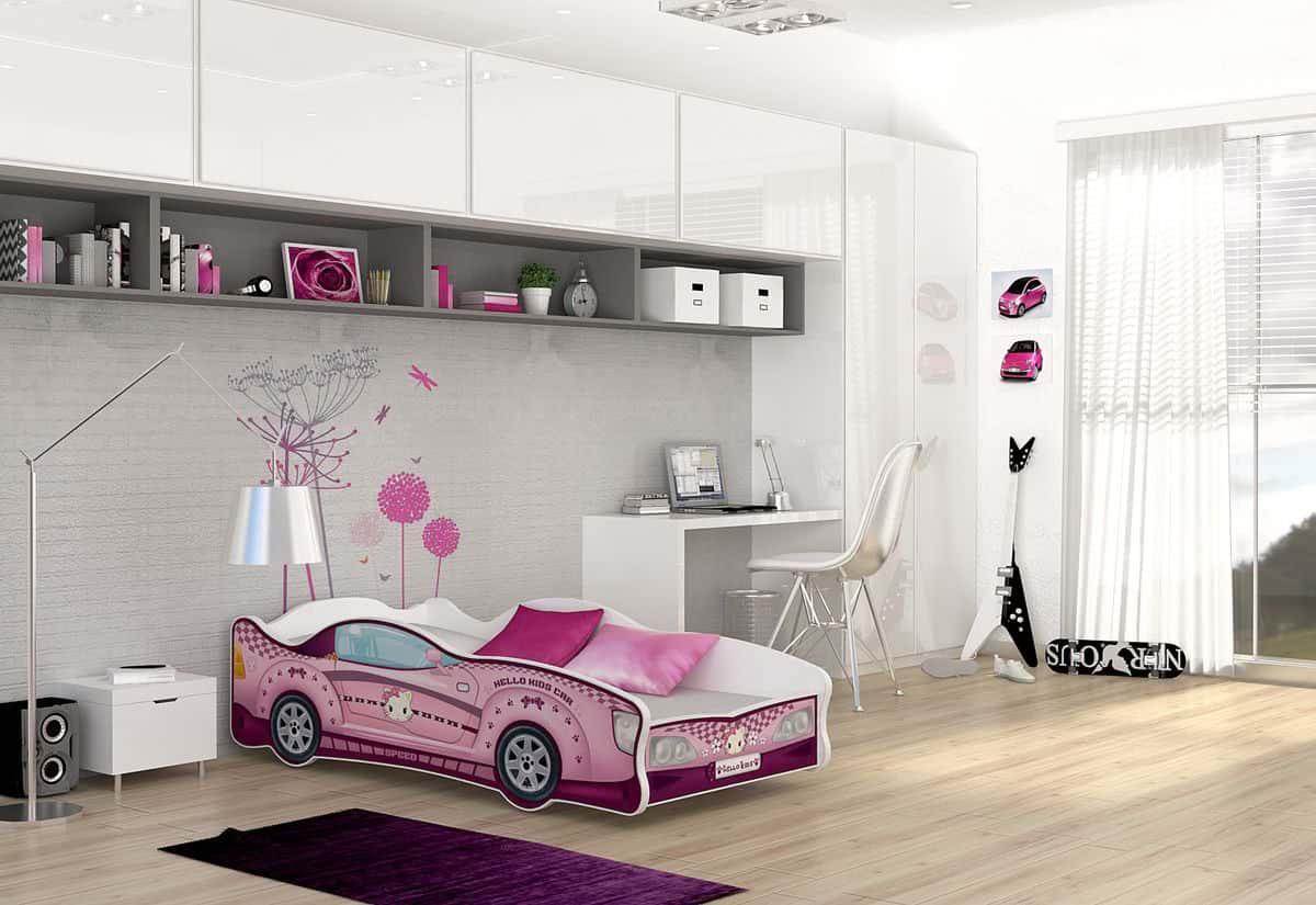 Dětská postel AUTO FLASH + matrace + rošt ZDARMA, 80x160, VZOR 12 Hello Kids