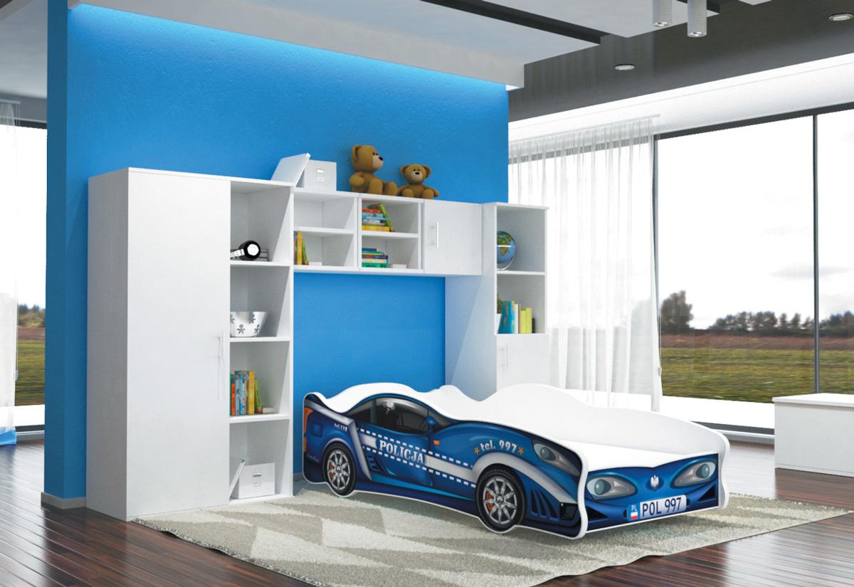 Dětská postel AUTO FLASH + matrace + rošt ZDARMA, 80x160, VZOR 11 Car 997