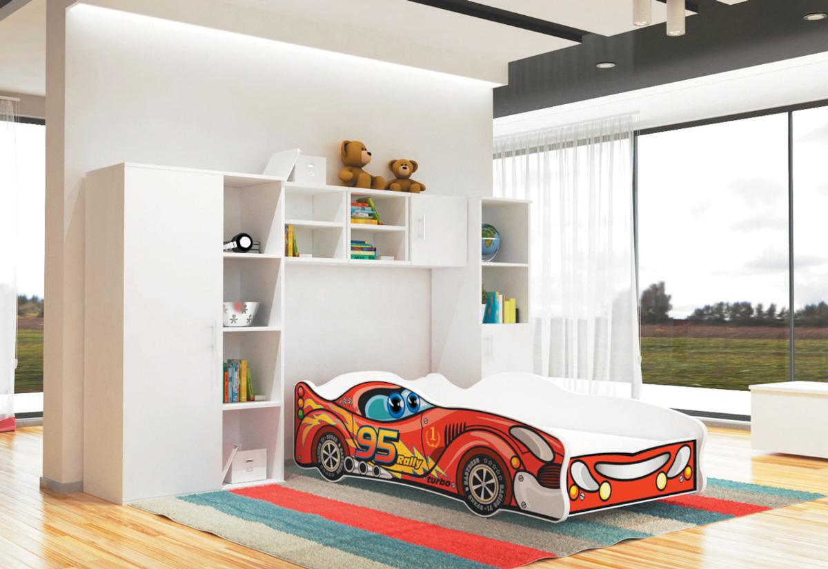 Dětská postel AUTO FLASH + matrace + rošt ZDARMA, 80x160, VZOR 01 Viper